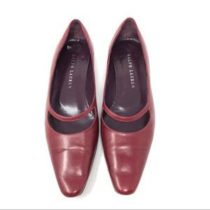 RALPH LAUREN brick red flats, made in Italy